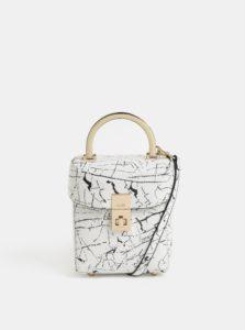 Čierno–biela malá koženková kabelka ALDO