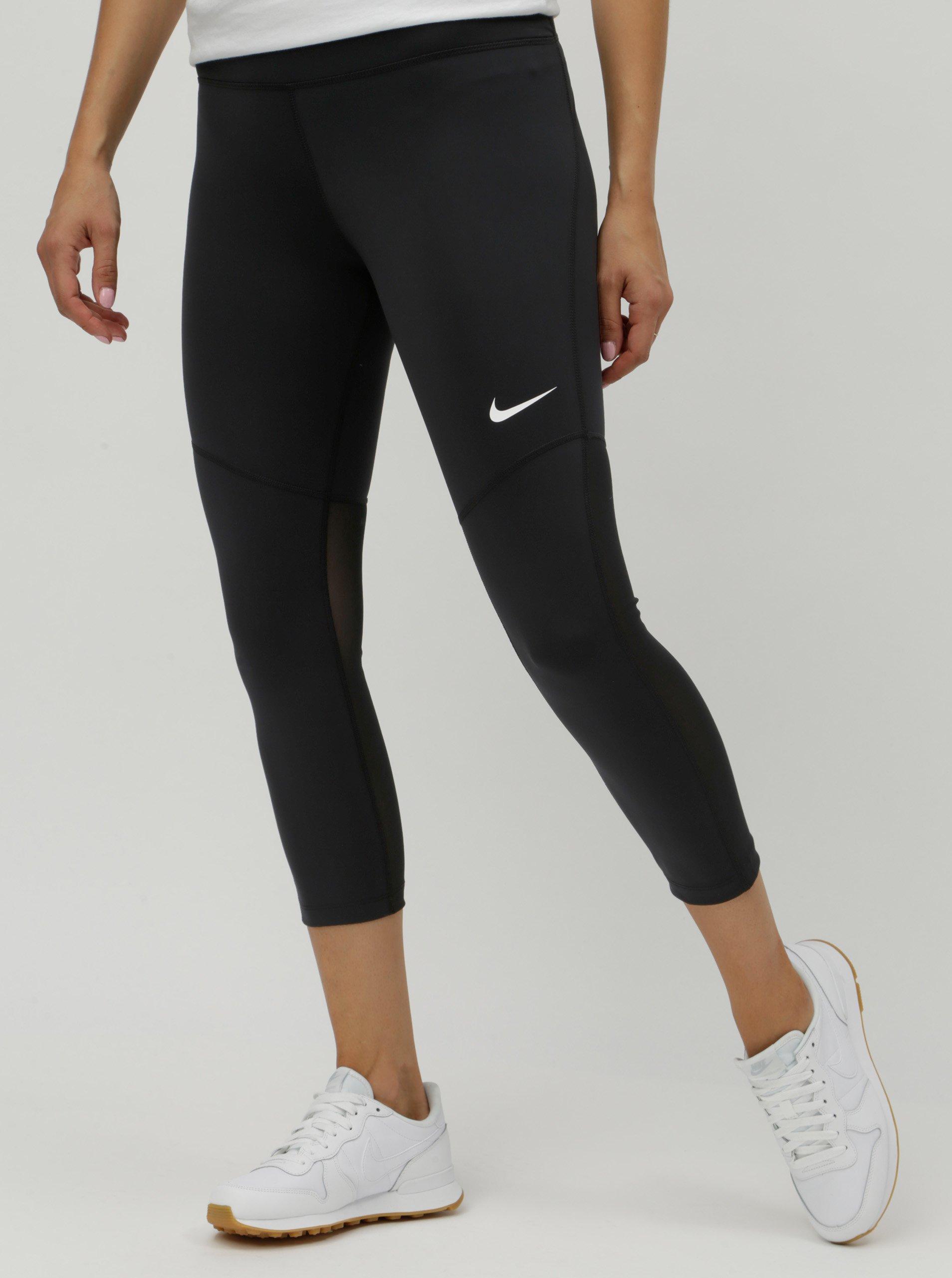 30387c14f070 Čierne dámske legíny s priesvitnými detailmi Nike Fly Victory