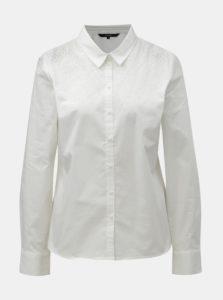 c0a291058ebc Biela košeľa s aplikáciou v striebornej farbe VERO MODA Zenia