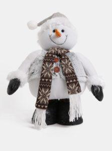 Biely veľký plyšový snehuliak Dakls