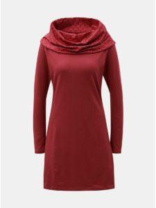 Červené šaty s golierom Tranquillo Thallo