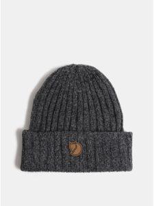Sivá melírovaná unisex zimná vlnená čiapka Fjällräven Byron