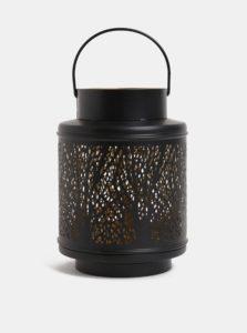 Čierny malý kovový lampáš Dakls