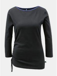 ae5a3b189dc3 Čierne tričko so sťahovaním na boku Tranquillo Ceres