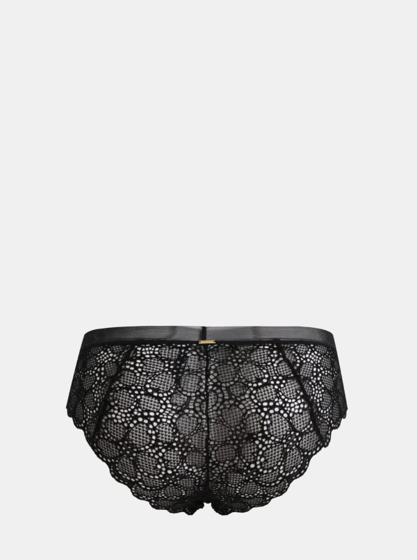 Čierne čipkované nohavičky DKNY