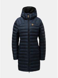 Tmavomodrý dámsky páperový prešívaný zimný kabát Fjällräven Snow Flake