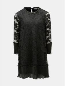 Čierne čipkované dievčenské šaty s dlhým rukávom Name it Sulla eb9e1581af3
