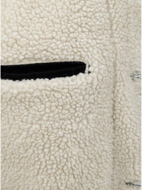 Tmavomodrá pánska menčestrová bunda so zateplenou podšívkou Wrangler Sherpa