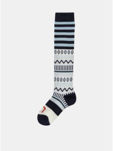 Bielo–modré vzorované vlnené ponožky Kari Traa Åkle Sock