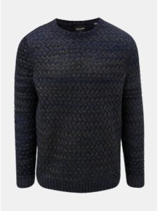 Tmavomodrý melírovaný sveter ONLY & SONS Odin