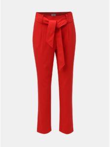 Červené nohavice s vysokým pásom Jacqueline de Yong Felix