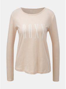 Staroružové tričko s dlhým rukávom a potlačou Roxy Sunset
