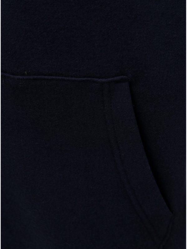 Tmavomodrá mikina na zips s kapucňou Burton Menswear London