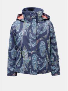 08acdc741daa Modrá dievčenská vzorovaná lyžiarska nepremokavá zimná bunda Roxy Jetty