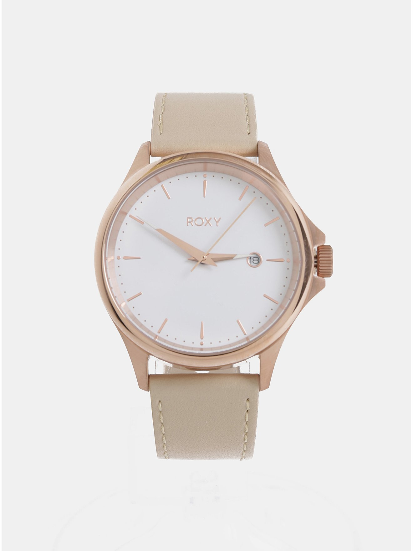 282be7296 Dámske hodinky s béžovým koženým remienkom Roxy Messenger | Moda.sk