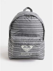 Sivý dámsky pruhovaný batoh Roxy Sugar Baby 16 l