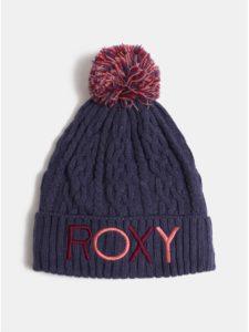 Tmavomodrá dievčenská čiapka s brmbolcom a nápisom Roxy Baylee