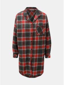 ad05b4101a88 Sivo–červená fleecová nočná košeľa Dorothy Perkins Sleep
