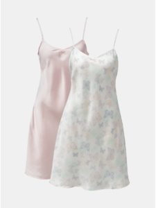 Balenie dvoch košieľok v ružovej a bielej farbe M&Co Butterfly