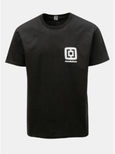 Čierne pánske tričko s potlačou a krátkym rukávom Horsefeathers Mini Logo