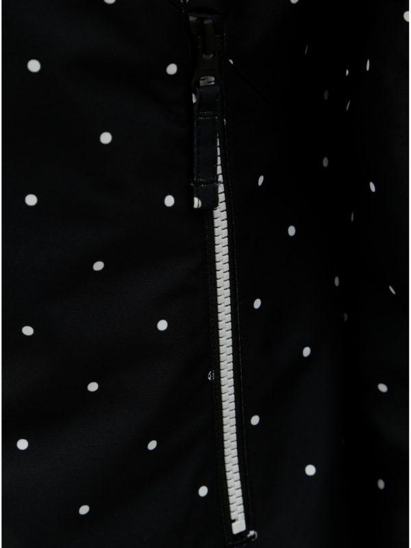 Čierna dámska bodkovaná funkčná zimná bunda Horsefeathers Judy