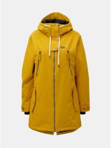 Žltá dámska funkčná dlhá zimná bunda Horsefeathers Chipy