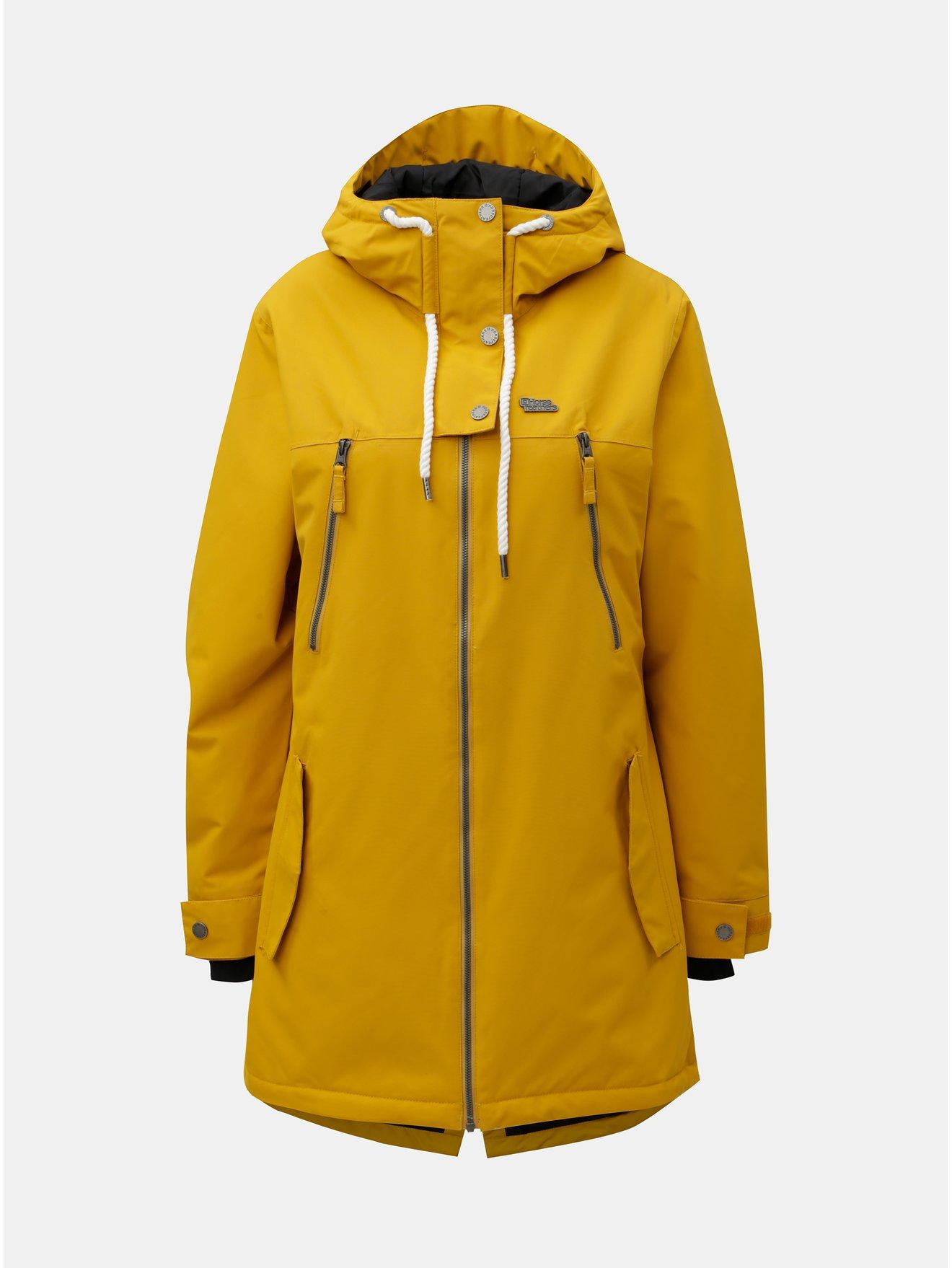 Žltá dámska funkčná dlhá zimná bunda Horsefeathers Chipy  10edfad3e11