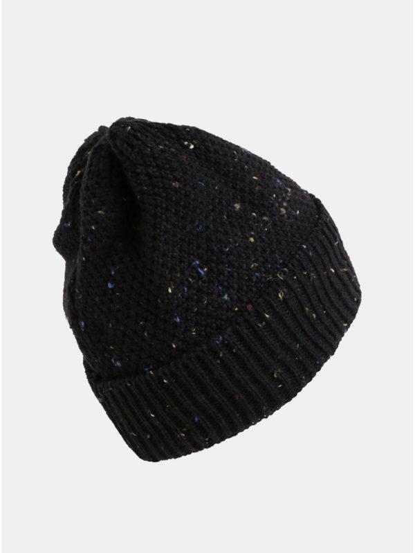Čierna dámska melírovaná čiapka s fleecovou podšívkou Horsefeathers Likun