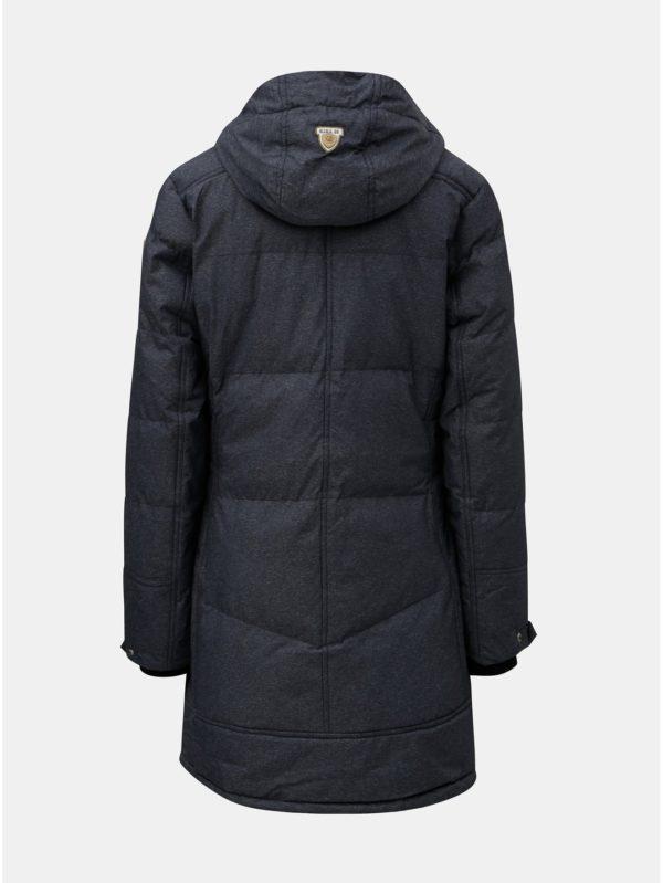 Modrý dámsky melírovaný zimný nepremokavý kabát killtec Treva