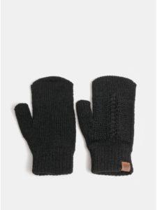 Čierne dámske pletené rukavice Horsefeathers Zara