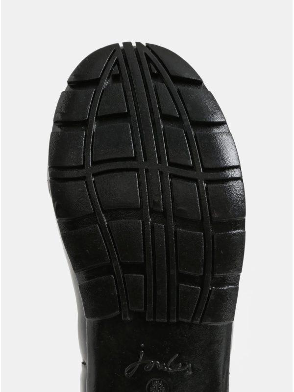Čierne dámske gumáky s prackou Tom Joule Glossy