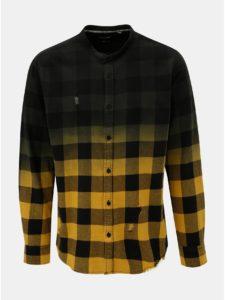 Zeleno–žltá kockovaná slim fit košeľa ONLY & SONS Gudmund