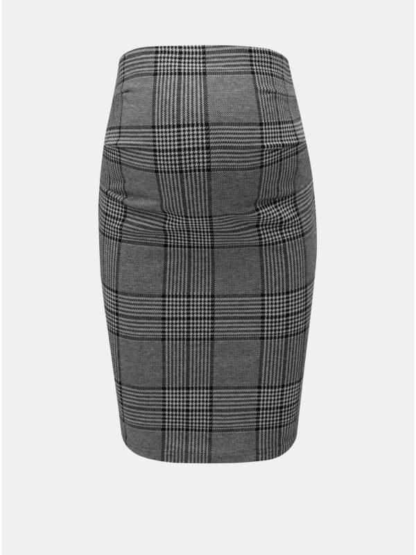 Sivá vzorovaná tehotenská sukňa Mama.licious Nataly