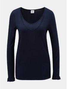 Tmavomodré tehotenské tričko vhodné na dojčenie Mama.licious New Willa