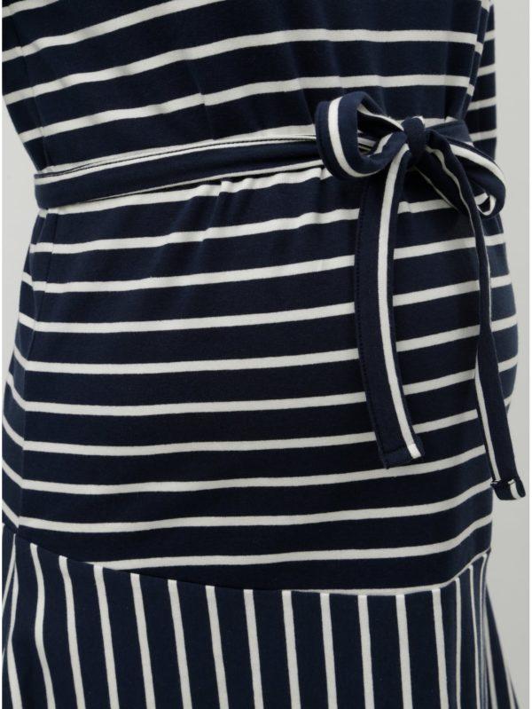 Bielo–modré tehotenské pruhované šaty Mama.licious Molly