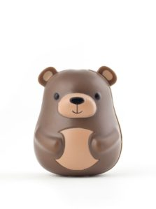 Hnedý držiak na zubnú kefku Kikkerland Bear