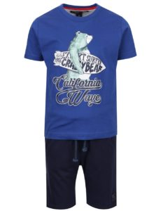 Súprava chlapčenských kraťasov a trička v modrej farbe North Pole Kids