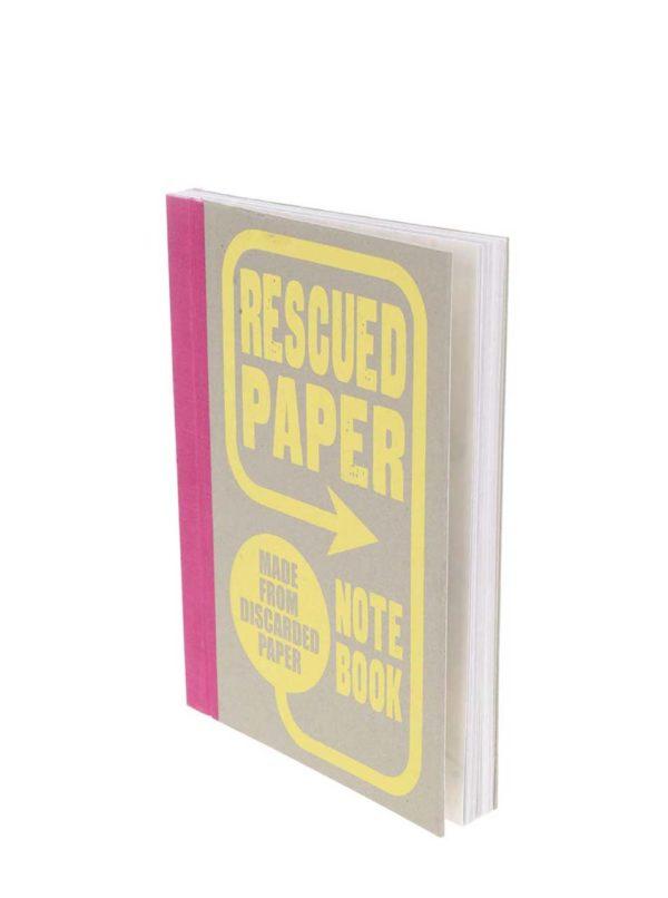 Žlto-sivý zápisník z recyklovaného papiera Chronicle