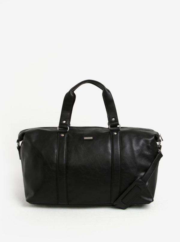Čierna cestovná taška s vreckom na notebook Bobby Black