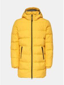 Žltá zimná dlhá prešívaná bunda ONLY & SONS Steen