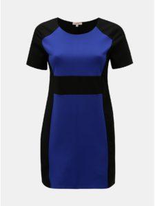 Modro–čierne šaty s krátkym rukávom La Lemon