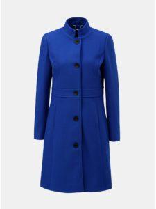 Modrý kabát s prímesou vlny Smashed Lemon