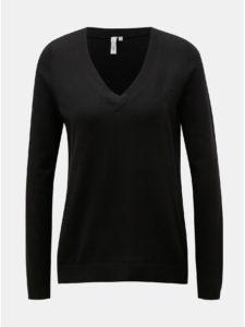 Čierny dámsky tenký sveter s véčkovým výstrihom QS by s.Oliver