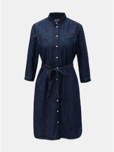 Modré rifľové šaty s 3/4 rukávom QS by s.Oliver