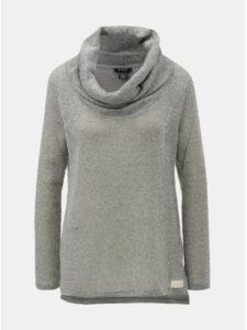 Sivý melírovaný sveter s golierom DKNY