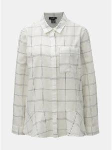 Biela kockovaná košeľa DKNY Button