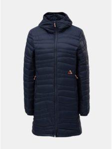 Tmavomodrý dámsky nepremokavý páperový kabát Maloja Fora