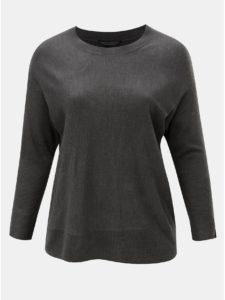 Sivý dámsky sveter so zipsom na rukávoch Dorothy Perkins Curve Jumper