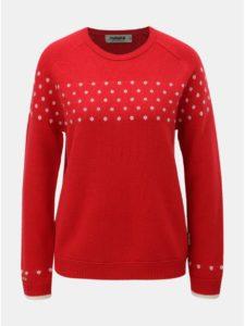 Červený dámsky vlnený sveter s bodkami Maloja Muntabella