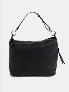 Čierna veľká kabelka so strapcami Dorothy Perkins Hobo